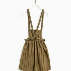 Stripped pinafore dress